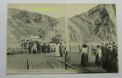 VINTAGE c1915 LL SERIES No 2 PRINTED PC OF ALUM BAY ISLE OF WIGHT