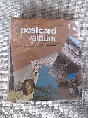 Empty Vintage Collecta Postcard Album with Inserts/Pockets for 160+ Postcards