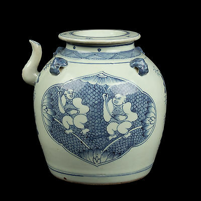 China 18./19. Jh. Teekanne - A Chinese Blue & White Teapot - Chinois Cinese Qing