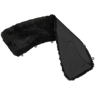 Russian Winter Black Faux Fur Collar Nylon with PU-covering