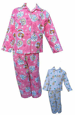 Disney Frozen Girls Pyjamas/PJ's Anna Elsa Long Sleeved Top & Bottoms 12m-4Years