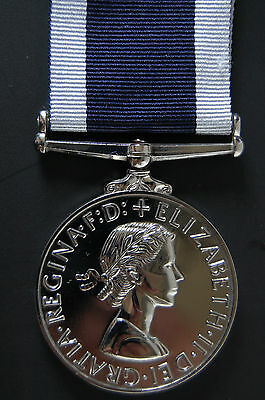 (Silver) Er Ii Navy Long Service Good Conduct Medal,  (Lsgc)