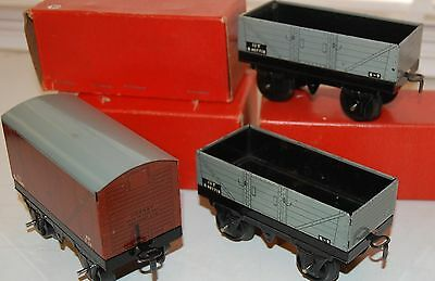 HORNBY O GAUGE 3 x No 30 WAGONS BOXED