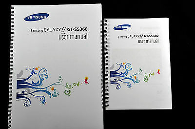 ~PRINTED~Samsung Galaxy Y GT-5360 user guide instruction manual COLOUR A4 or A5