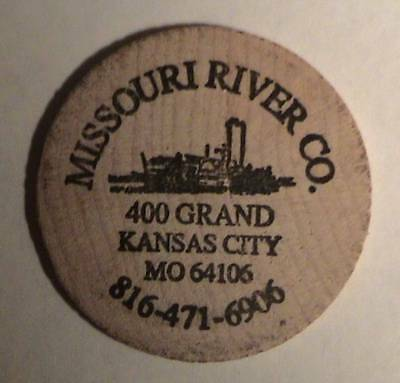 Missouri River Co. Kansas City, Mo / Classic Indian Head Front ~ Wooden Nickel