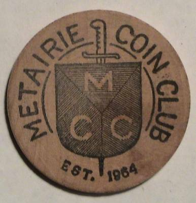 Metairie Coin Club / Mcc: Spring Show 1967 @ Fontainebleau Hotel: Wooden Nickel