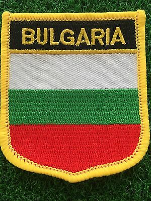 BULGARIA Shield Country flag patch... Embroidered IRON / SEW ON 6cm X 7cm