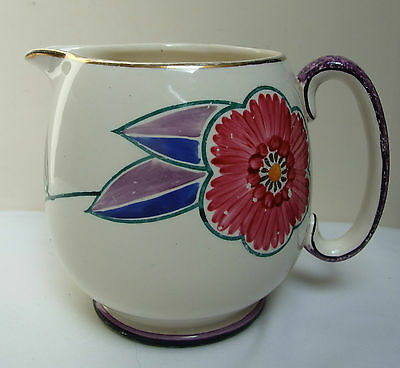 """A E GRAY & CO GRAY'S HAND PAINTED FLORAL JUG 5"""" 1930's DECO"""