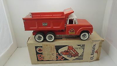 1960's LIL' BEAVER DEPT. OF HIGHWAY PRESSED STEEL DUMP TRUCK IN BOX RARE CANADA