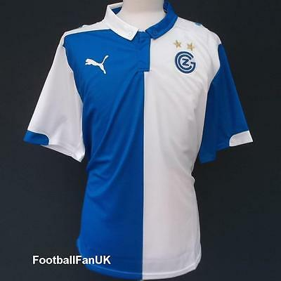 GRASSHOPPER CLUB ZURICH Puma Home Shirt 2014/15 NEW L Jersey Trikot 14/15 GCZ