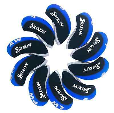 10x Srixon Iron Covers Golf Club Head Covers Black&Blue