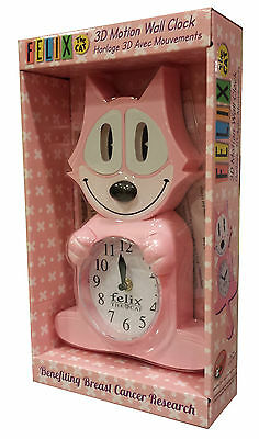 Felix The Cat Animated Wall Clock (Pink) (Ships Direct From The Felix Studios)