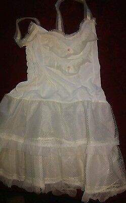 Girls Petticoat Full Slip Size 6 Lace vintage children's clothing