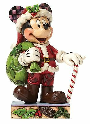 Disney Traditions Holiday Cheer For All Mickey Mouse Christmas Figurine 4046014