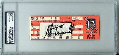 Psa/dna Signed Full Ticket Alan Trammell Final Game Detroit Tigers Autographed