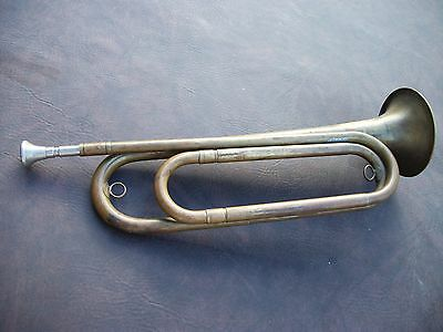 """Vintage Pre-1932 Rexcraft US Regulation Military """"Brass Bugle"""" Made in USA"""