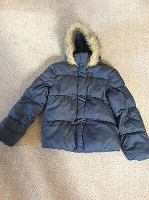 Girls M&S winter jacket age 11-12 years vgc