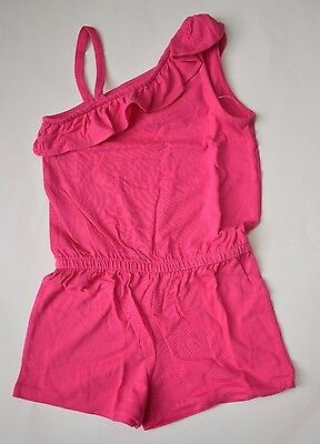 NWT Gymboree Hop N Roll Pink Ruffle Romper One Piece Girls size 5