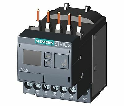 Siemens 3RR22411FW30 Programable Current Monitoring Overload Relay with base