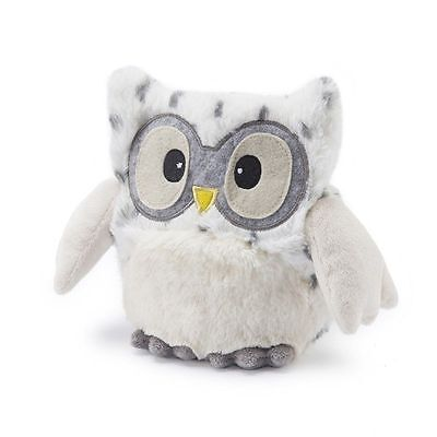 Warmies Hooty Owl SNOWY Microwavable Heatable Lavender Scented Hottie Cuddly