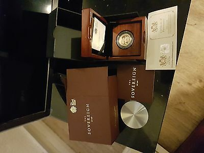 2017 ROYAL MINT UK GOLD PROOF SOVEREIGN - WITH BOX & COA (in box)