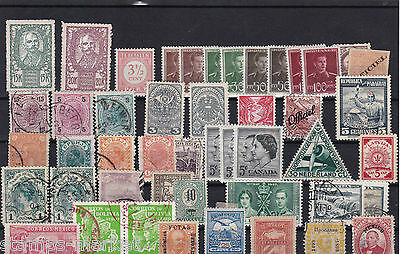 Mixed Vintage Stamps On Large Stock Card  Ref 948
