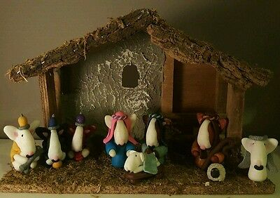 ODD BULLS personalised English Bull Terrier Christmas Nativity Set (incl stable)