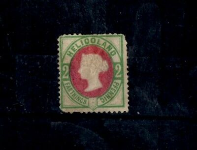 Heligoland stamp 1875 2pf  red and green