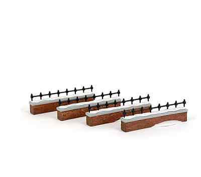 Dept 56 Dickens Village - Churchyard Fence Extensions (Set Of 4)