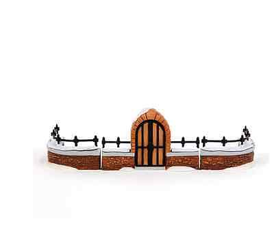 Dept 56 Dickens Village - Churchyard Gate And Fence (Set Of 3)