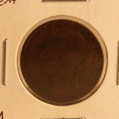 1883 Straits Settlement 1/2 Cent Coin - Half Penny - KM 8 - Very Good VG+