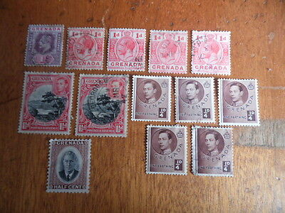 Grenada ~ KEVII - KGVI ( Mainly Used ) 1902-1951 ~ Sg58 - Sg172 ~ Lot 4