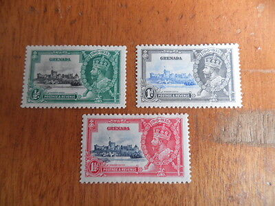 Grenada ~ 1935 KGV Jubilee ~ MH Part Set ( Excludes 1/-) Sc#124-126 ~ Lot 2