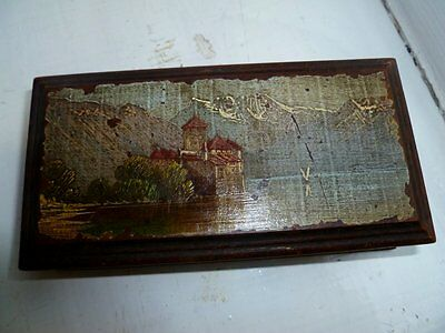 Vintage antique Wooden Hand Painted  Box