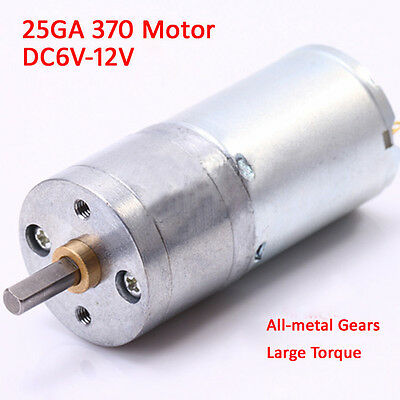 1Pcs DC6V-12V 25GA-370 Gear Motor With Metal Gear low Speed High Torque For DIY