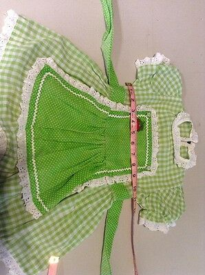 1970s, Vintage Kids Clothes, Girls Green Dress.