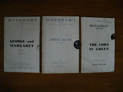 3 Vintage Theatre Programmes 1930s/40s - Wyndham's and Piccadilly, London