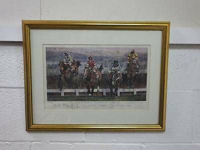 Signed Dm Dent Doing The Business, Cheltenham Gold Cup Framed Print
