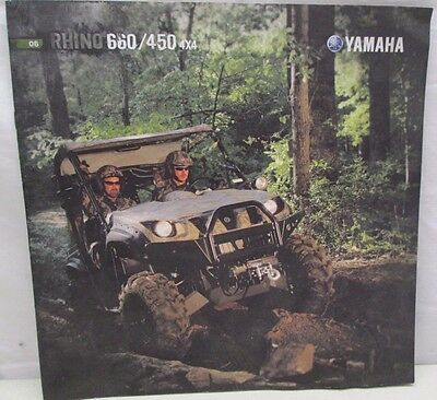 2006 Yamaha Rhino 660 450 4x4 Sales Brochure with Specifications