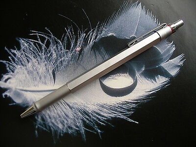 ROTRING Newton 600 Series, silver matte 6-sided Ballpoint, boxed