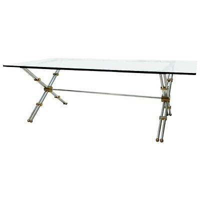 Rare Brass and Chrome Table by John Vesey