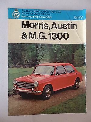 Pearsons Illustrated Car Servicing series For Morris,Austin & MG,Manual,Classic.