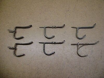 Old Tools Vtg Lot of 6 Assorted Metal Twisted Wire Coat Hooks Screw In Pound In