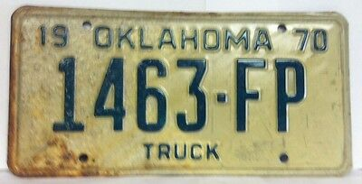 1970 OKLAHOMA Forest Products License Plate (1463-FP) - Very Rare