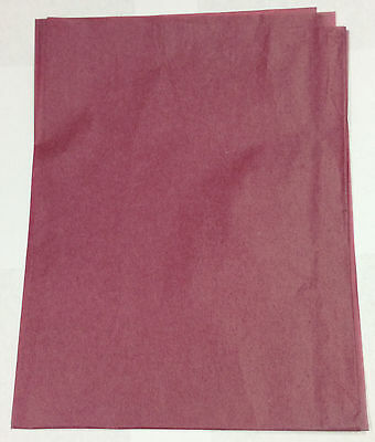 """New Burgundy Red Color Tissue Papers 20""""x30"""" #1 at 480-500 Sheets per Ream"""