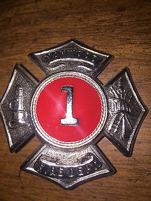 Maywood New Jersey Fire Department Hat Badge Obsolete