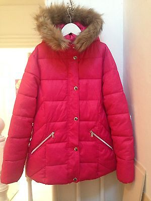 Zara Kids Bright Fuschia Pink Padded Quilted Jacket Age 13-14yrs