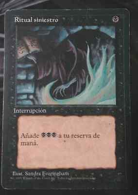 Dark Ritual / Ritual Siniestro -MTG- 4th Edition Black Bordered