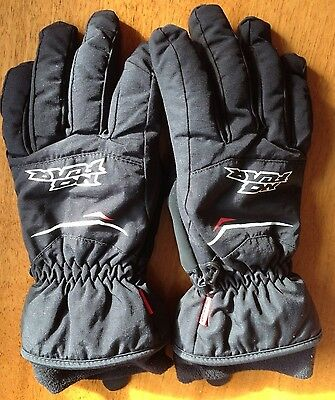 No Fear Black Gloves Youth XLB approx age 13 years plus Good condition