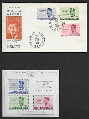 Cyprus Sg 256-258 Includes 1St Day Cover